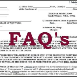 No-Contact Restraining Orders FAQs